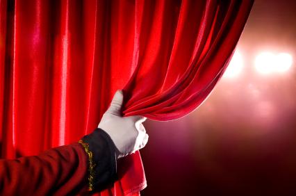 A peek behind the writing curtain...