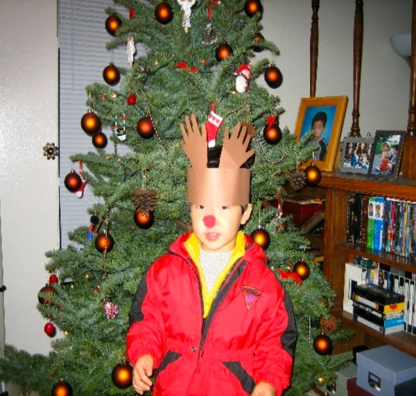 2005, Jeremy in front of the contraband Christmas Tree