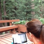 The proverbial writer's cabin in the woods.  Bliss!